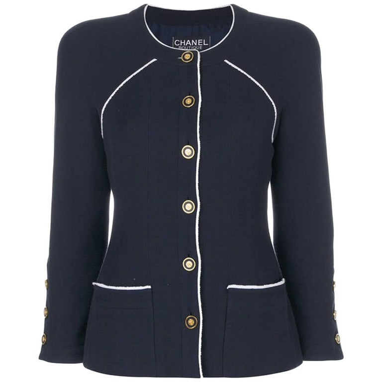 Chanel Navy Cotton Jacket
