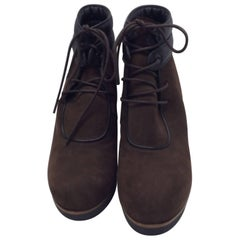 Tods Brown Lace Up Ankle Booties