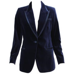 Tom Ford for Gucci 1996 Collection Dark Blue Velvet Tuxedo Jacket Blazer It. 42
