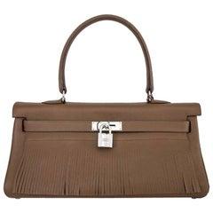 Hermes Alezan Togo Leather Kelly Fringe Unisex - Rare