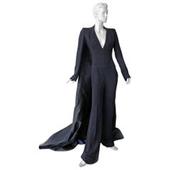 "NWT Antonio Berardi ""Finale"" Jumpsuit with Dramatic Train Red Carpet Dressing"