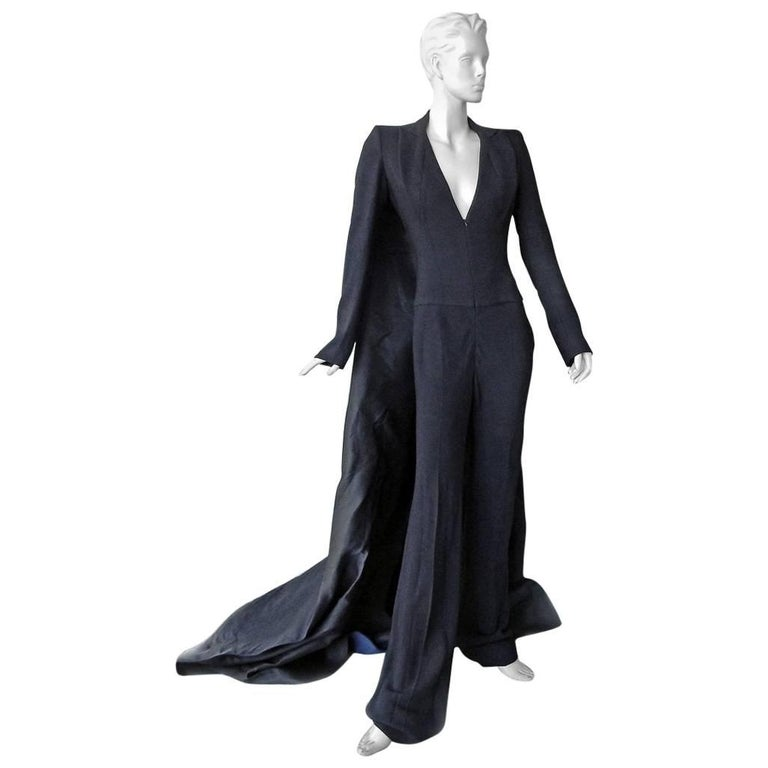 "NWT Antonio Berardi ""Finale"" Jumpsuit with Dramatic Train Red Carpet Dressing For Sale"