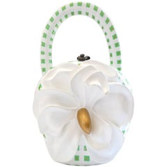 Timmy Woods Gingham Flower Wooden Bag