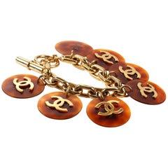Chanel Tortoise CC Coin Disc Bracelet