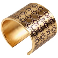 Chanel COCO Gold Cuff Bracelet