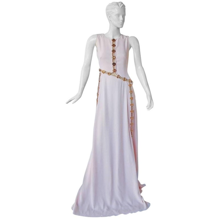"Antonio Berardi ""Pretty in Pink""  Asymmetric Gown w/Rose Gold Hardware  For Sale"