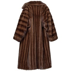 James Galanos Vintage Female Mahogany Mink Full Length Coat, 1980s