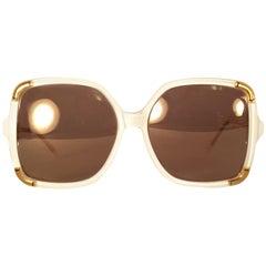 New Vintage Ted Lapidus Club Ivory Paris 1970 Sunglasses Fran