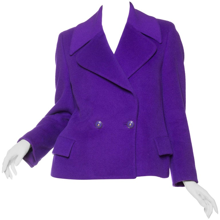1990s Gianni Versace Couture Purple Jacket with Medusa Buttons