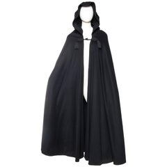 Yves Saint Laurent YSL Rive Gauche Cape with Hood, 1970s