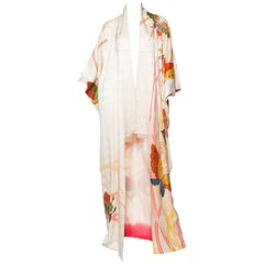 Butterfly Vintage Kimono with Gold Detailing