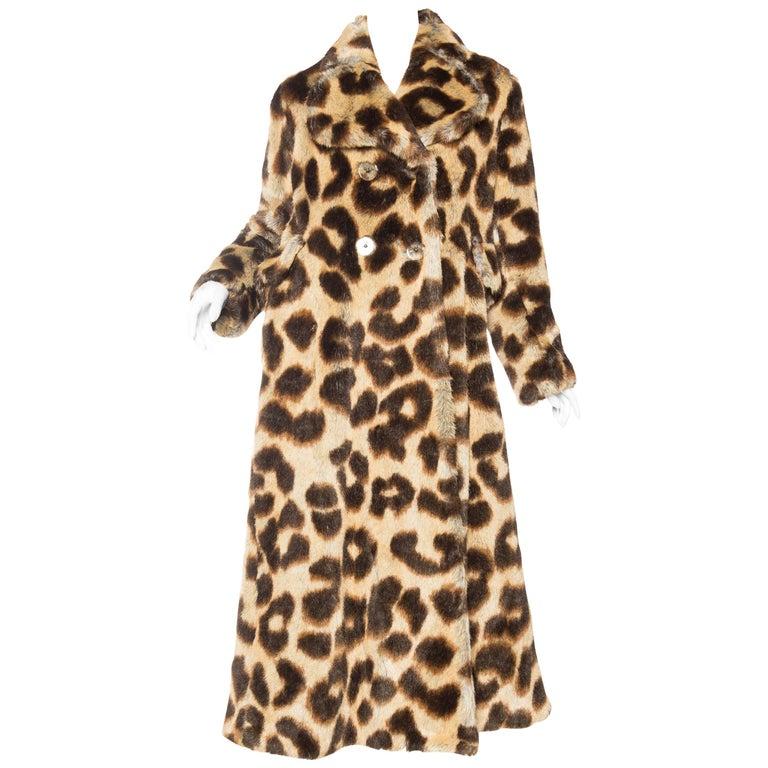 Vivienne Westwood Lush Faux Leopard Coat For Sale