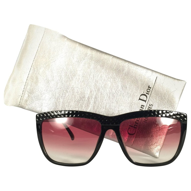Mint Vintage Christian Dior 2399 Quilted Black Optyl Sunglasses Germany
