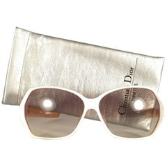 New Vintage Christian Dior 2177 White Origami Optyl Sunglasses Germany