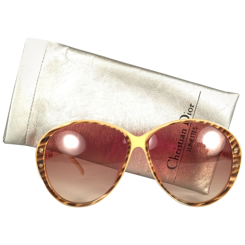 New Vintage Christian Dior 2276 Oversized Ivory Optyl Sunglasses Austria