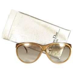 New Vintage Christian Dior 2157 Translucent Amber Optyl Sunglasses Austria