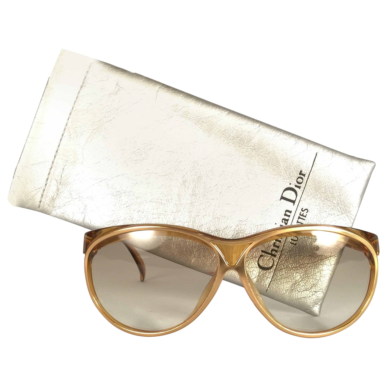 New Vintage Christian Dior 2157 Translucent Amber Optyl Sunglasses Austria