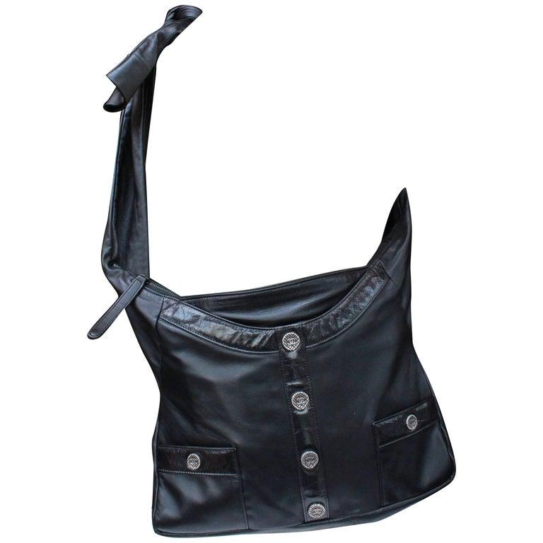 "Chanel ""Girl"" black lambskin bag, Circa 2015  For Sale"