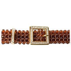 Valentino lucite bead and rhinestone belt, circa 1970s