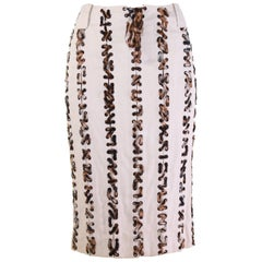 S/S 2002 VINTAGE TOM FORD for YVES SAINT LAURENT SAFARI SKIRT