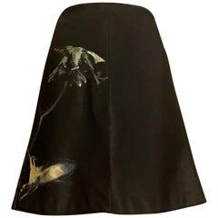 Alexander McQueen Black Hummingbird Bird Skirt, 2008