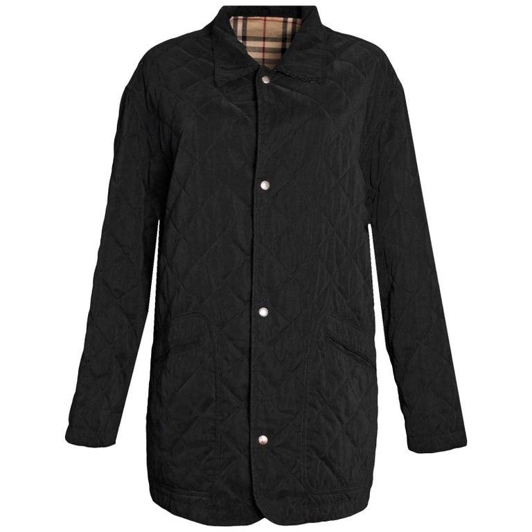 Burberry London Men's Black Quilted Jacket sz M