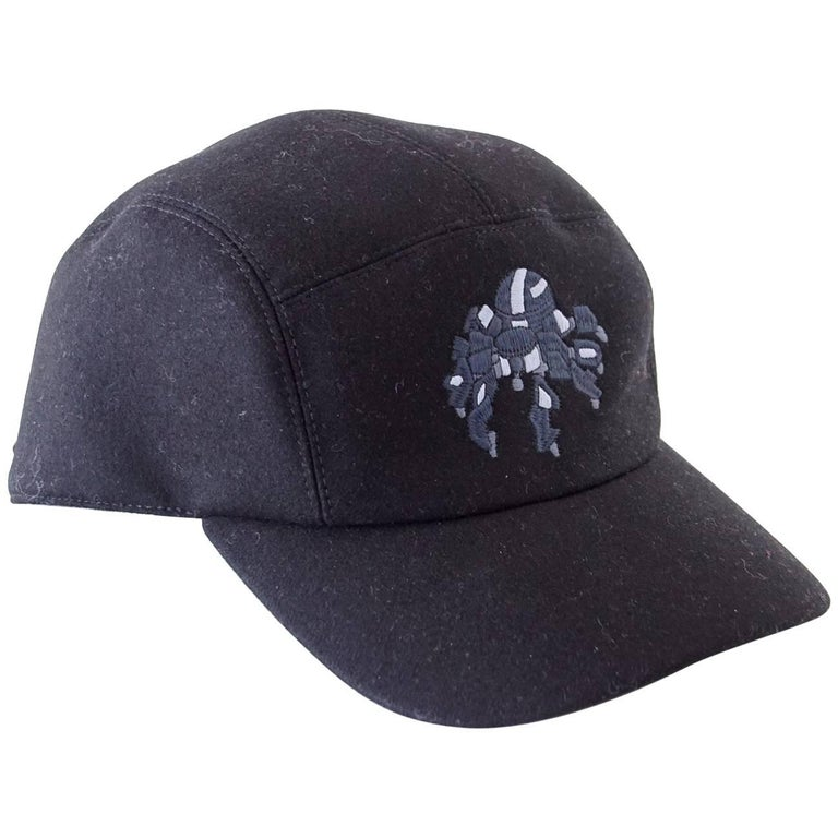 df4cf7cd708 Hermes Hat Cashmere Spider Robot Limited Edition Black Cap 59 For Sale.  Guaranteed authentic ...