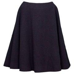 J.W. Anderson Navy Nubby Wool A-Line Skirt sz US6