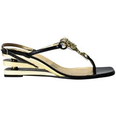 Pierre Cardin futuristic chainmail sandals, circa 1960s