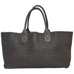 Bottega Veneta Taupe Intrecciato Leather Medium Cabat Tote Bag rt. $7,000