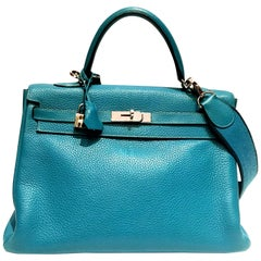 Hermes Kelly - 35 - Turquoise