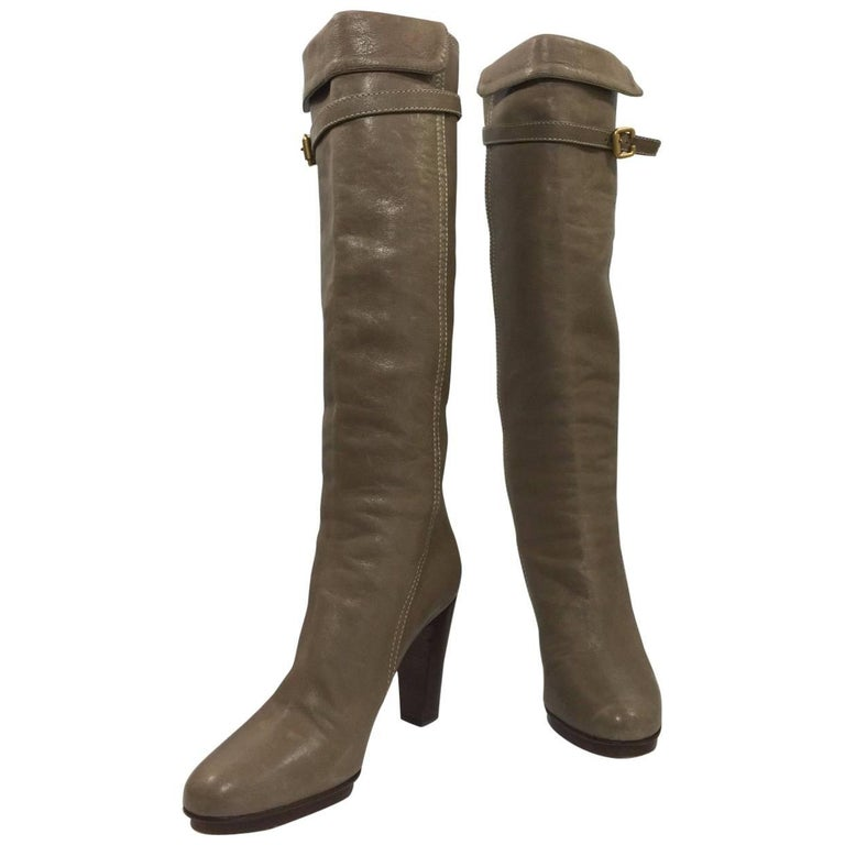 Chloe Tall High Heel Boots In Grey or Taupe