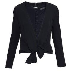 Versace Black Tie Waist Jacket
