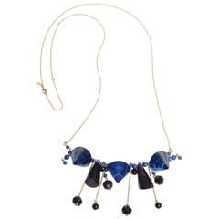 Marni Black and Blue Statement Necklace