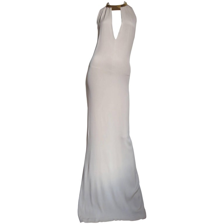 1996 Tom Ford For Gucci Plunge Backless Dress