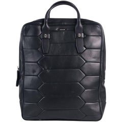 Roberto Cavalli Mens Black Leather Zip Around Python Scale Travel Bag