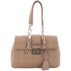 Christian Dior Flap Chain Shoulder Bag Cannage Quilt Lambskin Medium