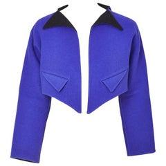 GeoffreyBeene Geometric Double Face Wool  Cropped Jacket