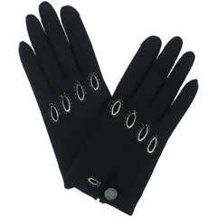 1960's Saks Fifth Avenue Black & White Driving Gloves