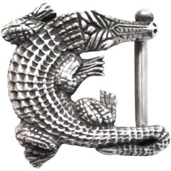 Kieselstein-Cord Small Alligator Belt Buckle