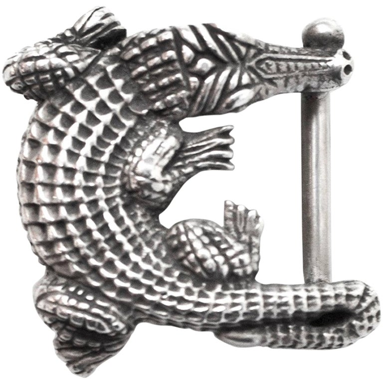 Kieselstein-Cord Small Alligator Belt Buckle