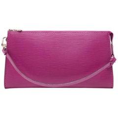Louis Vuitton Pochette Accessories Grenade Epi Leather Hand Bag