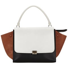 Celine White Large Trapeze Bag