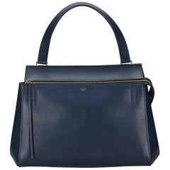 Celine Blue Large Edge Bag