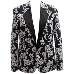 VERSACE TAYLOR MADE TUXEDO BLAZER JACKET with CRYSTAL BUTTONS for MEN