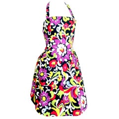 Christian Lacroix Pink Label Bustier Halter Dress