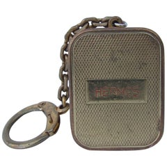 Hermes Keychain Key Ring Key Holder Music Box Collector Golden Metal
