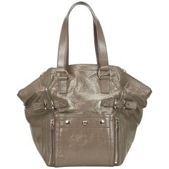 Yves Saint Laurent Olive Green Downtown Tote Bag