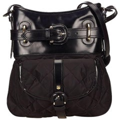 Burberry Black Nylon and Leather Crossbody Bag