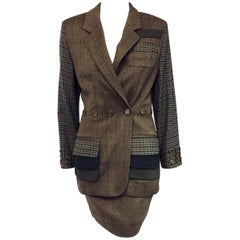 Magical Moschino Multi Color Tweed Skirt Suit w Whimsical Characteristics